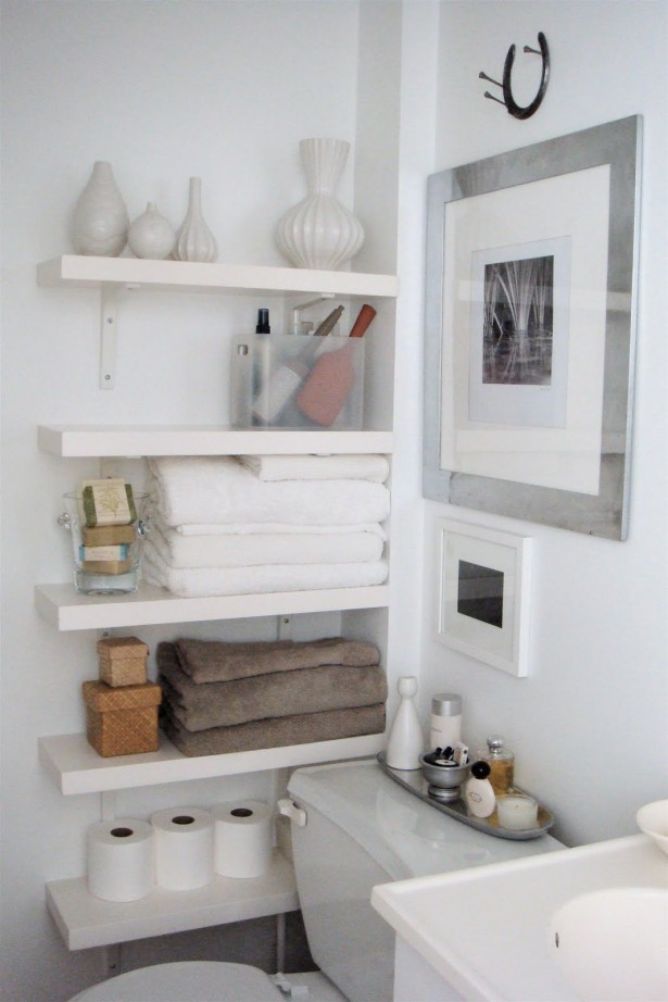 Savvy And Convenient Bathroom With Instant Bathroom Shelves: Small Space Organizing Shelving Instant Bathroom Shelves Design ~ stevenwardhair.com Furniture Inspiration