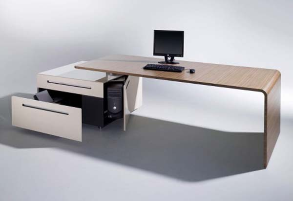 stylish office tables. Creative Ideas Home Office Furniture, Be Comfortable : Smooth Color Multifuctional Work Desk The Lane Stylish Tables