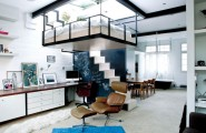 Stunning Space Savng Interior Inspiration From An Apartment In London : Space Conscious Home In Camden Borough London With Floating Bed Design