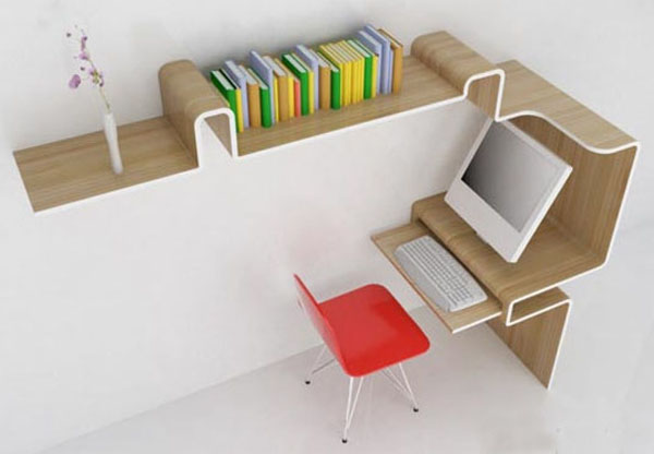 Furniture Space Saving Work Desk And Furniture Home Office Simple Creative Ideas Home Office Furniture Model Design