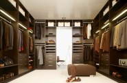 Closet Ideas For Bedroom And Floors : Spacious Walk In Closet Luxury Suits Carpeted Floor