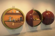 Modern Kitchen Unique Designs : Spherical Kitchen Cabinets