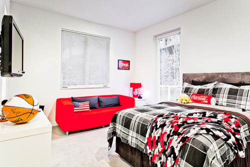 Sporty Teenage Girl Bedroom Ideas bedroom design: sporty teenage bedroom ideas red sofa basket ball