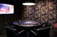 Pleasurable Billiard Room Designs, Decoration And Furniture : Spotlight Shines Firmply On Your Poker Skills On Round Table