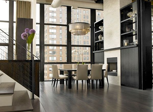 Stylish Dining Room Sticking Out Modesty Ideas In Your Home : Square Table In Luxurious Dining Room