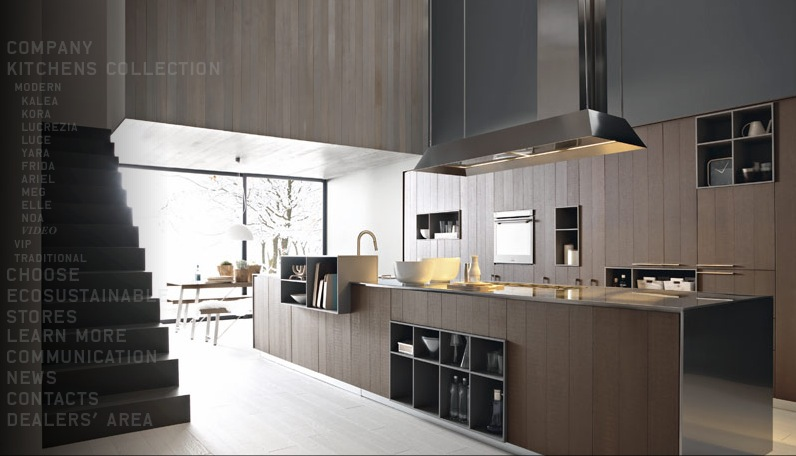 Contemporary Kitchens With Exceptional Ideas : Stainless Steel Cognac Oak Modern Kitchen