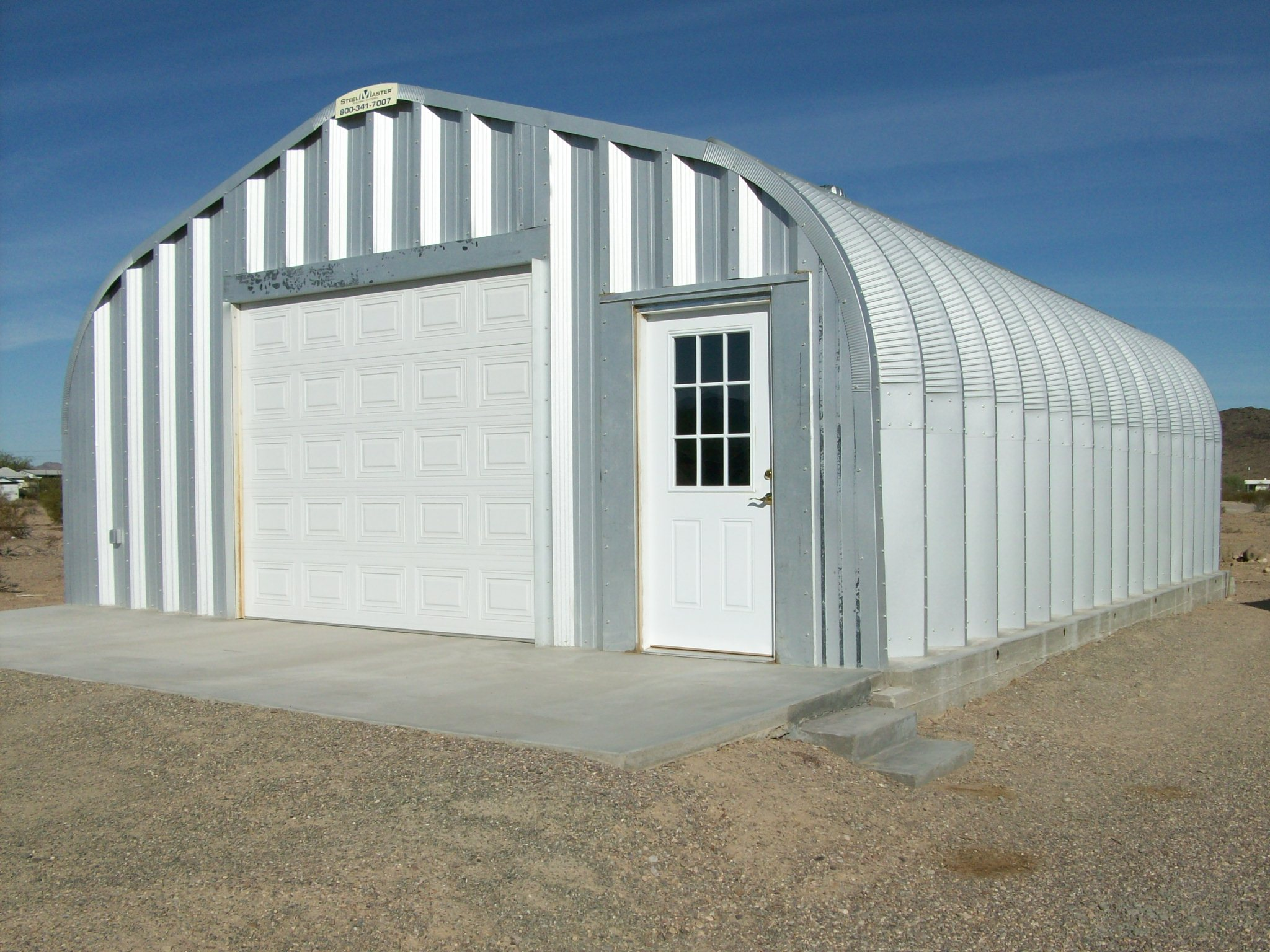 Fine Designed Prefab Garage With Visual Simplicity : Steel Building Metal Prefab Garage Model