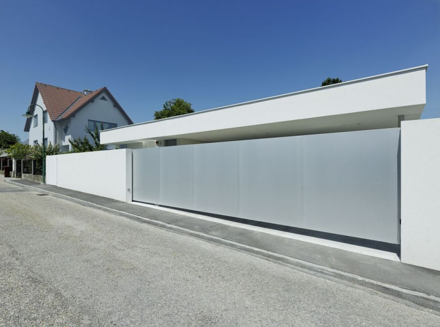 Contemporary Home Design: The A&B House In Austria: Street Facade Of House AB