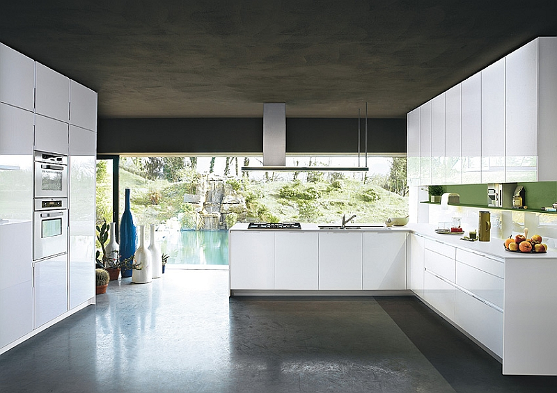 Functional Contemporary Kitchen For Storage Solution : Stunning A Perfect Kitchen For Those Who Love Sleek Contemporary Design In White Furniture