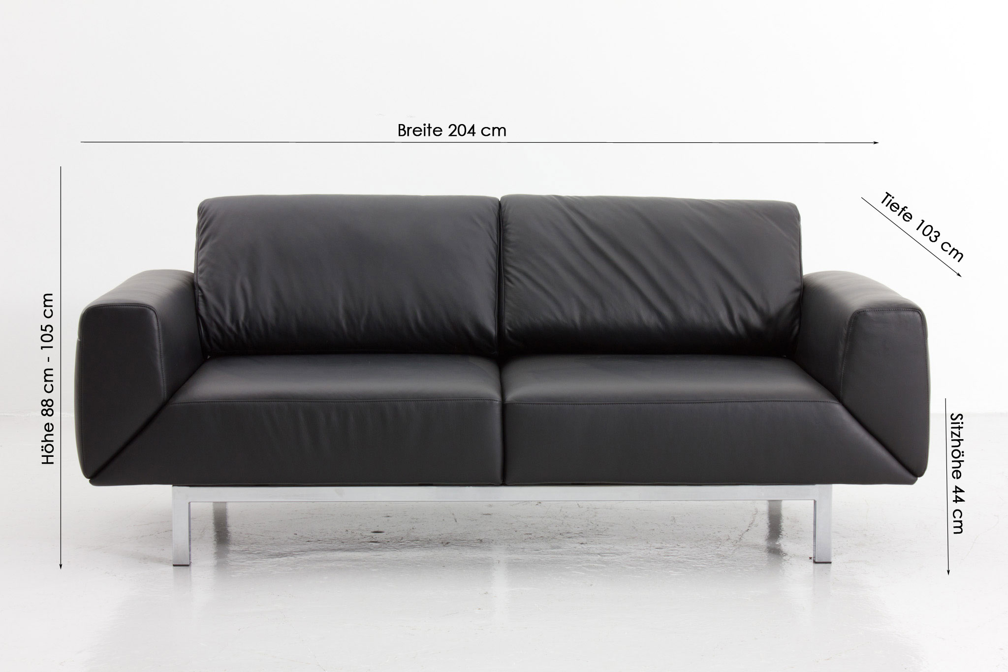 Schillig Sofa Perfect Furniture In A House Or In An Office: Stunning Black Metal FRame Minimalist Style Schillig Sofa Design