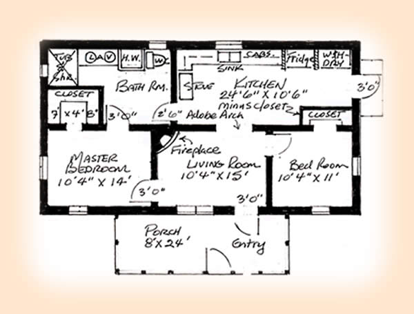Two Bedroom House Plans For Family: Stunning First Floor Two Bedroom House Plans Design Ideas