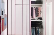 Kids Wardrobes Models For Girls : Stunning Minimalist Kids Wardrobes White Purple Color Design