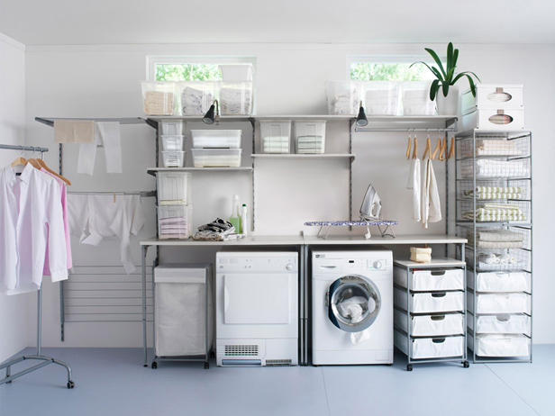 Stunning Laundry Room Organization Ideas For A Limited Space : Stunning Modern Laundry Room Organization Ideas Closets Organization Design
