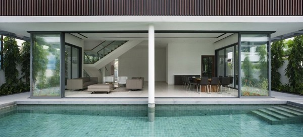 Contemporary Home Style With Attractive Appearance : Stunning Modern Swimming Pool Design Vault House Outdoor1