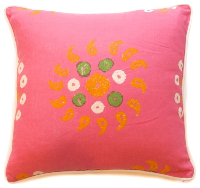 Pink Sofa Pillows Custom Made Inspirations: Stunning Pink Sofa Pillows Floral Arts Design Ideas