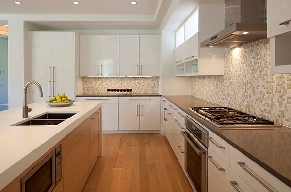 Simple Elegant Knobs And Pulls For Kitchen Cabinets: Stylish Kitchen With Modern Cabinets Pulls