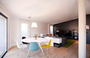 Modern Duplex Design In Spanish Style : Stylish Modern Dining Area With Oval Table Spanish Penthouse