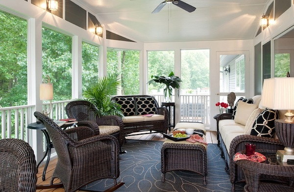Enchanting Furniture Style To Furnish Sunroom Interior : Sunroom Furniture Wicker