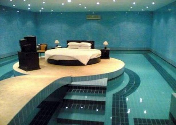Poolside Bedroom: Waking Up In The Ocean: Swimming Pool Bedroom ~ stevenwardhair.com Bedroom Design Inspiration