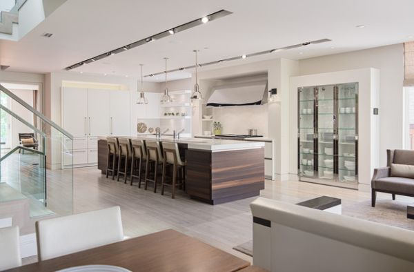 Sparkling Kitchen Cabinet Designs With Glass Doors : Tall Glass Cabinets Are Both Decorative And Ergonomic