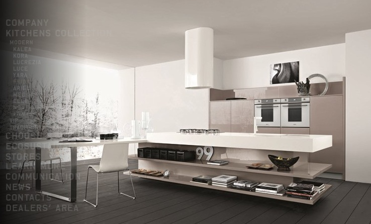 Contemporary Kitchens With Exceptional Ideas: Taupe White Kitchen
