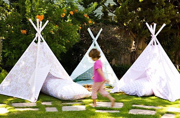 Bright Spring Party: 20 Lively Ideas: Teepee Tents For A Childs Birthday Party