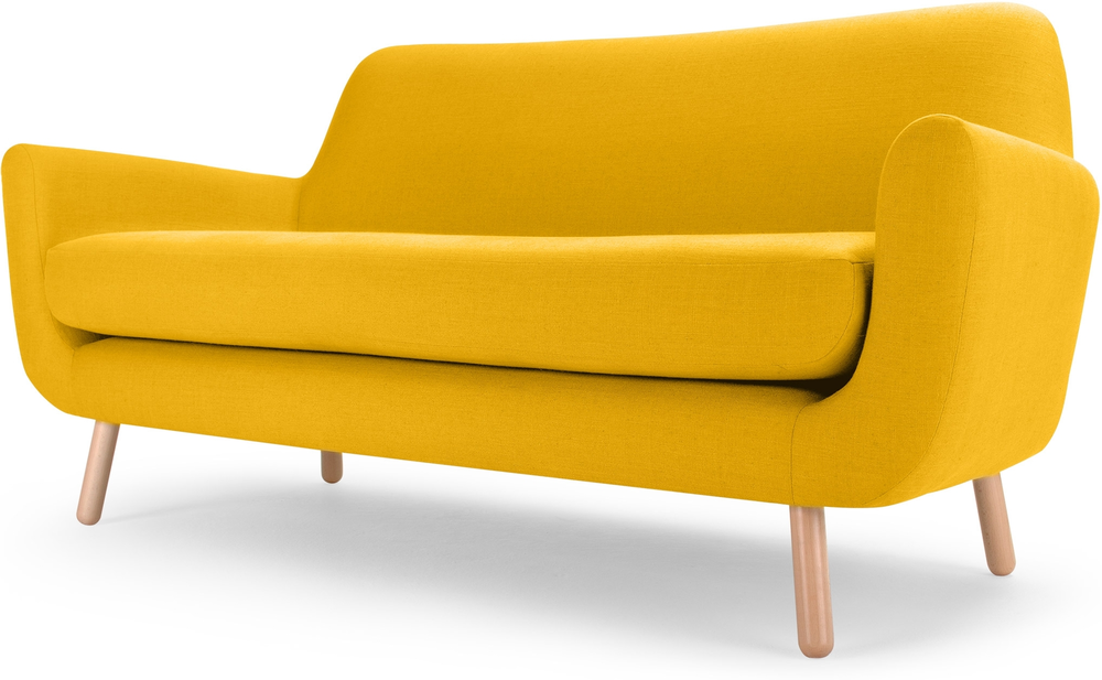 Yellow Sofas And Its Many Designs : The Jonah Yellow Two Seater Sofa