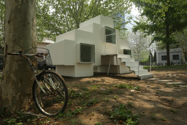 Beautiful Micro House For Small And Functional Residential Place: The Open Bike Garage Near The Micro House ~ stevenwardhair.com Minimalist Home Design Inspiration