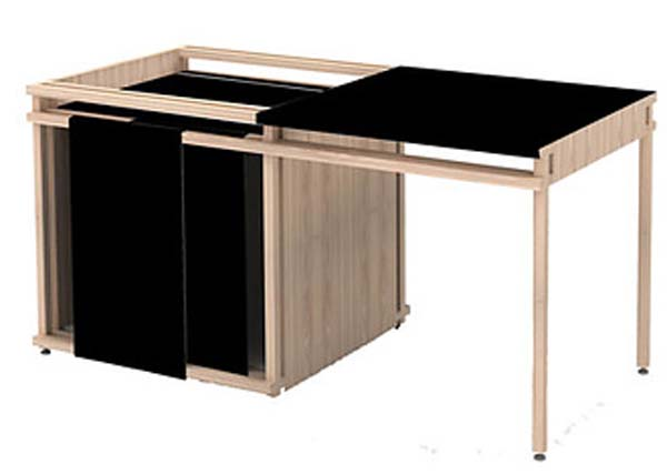 Creative Ideas Home Office Furniture, Be Comfortable: The Track Desk Contemprary Desk Style
