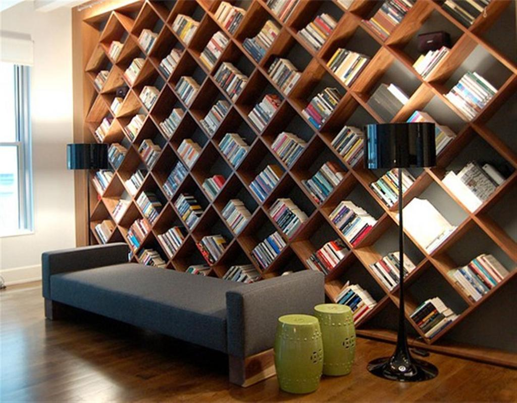 Wall Bookshelf With A Unique Touch: The Wall Bookshelves