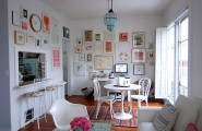 Artistic Pastel Color Palette Decoration : Touches Of Pastels In An All White Room