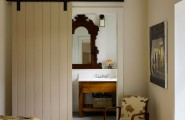 Amazing Entrance Design Ideas For Every Home Design : Traditional Bedroom Design Connected To Bathroom With Slide Door
