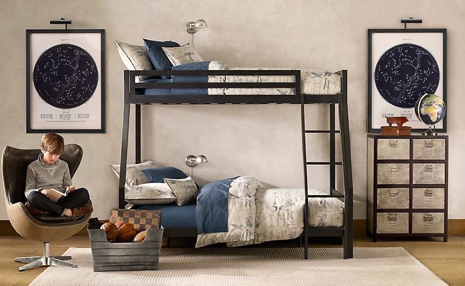 Traditional Boys Room Decoration For Authentic Feel: Traditional Boys Bedroom Bunkbeds