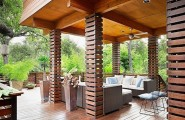 Adorable Asian Architectural Residence So Traditional With Wood Accent : Trendy Exterior Decor Of Tarrytown Residence Porch By Webber Studio Architects