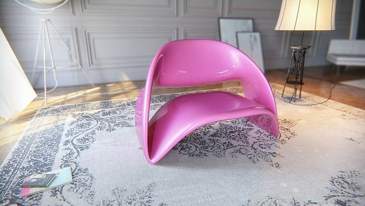Cool Chair Design By Nuvist: Trendy Pink Lyubkka Chair By Nuvist Utilizes Acrylic As Its Material