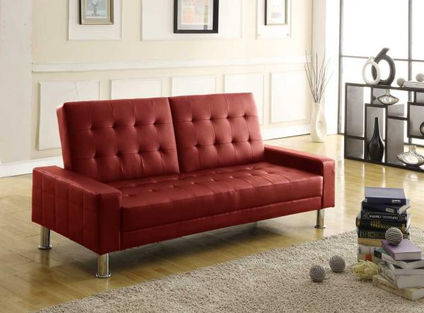 Cheap Sofa Beds: Brand Comparisons: Turin Sofa Bed In Red