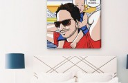 Comic Interior Arranged Artistically With Modern Style : Turn Those Memorable Moments Into Comic Strip Inspired Wall Art