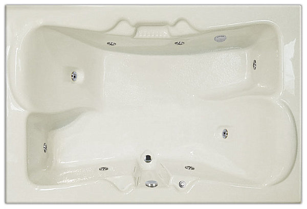 Bathtubs For Two: Love Is In The Air : Two Person Tub For Side By Side Bathing1