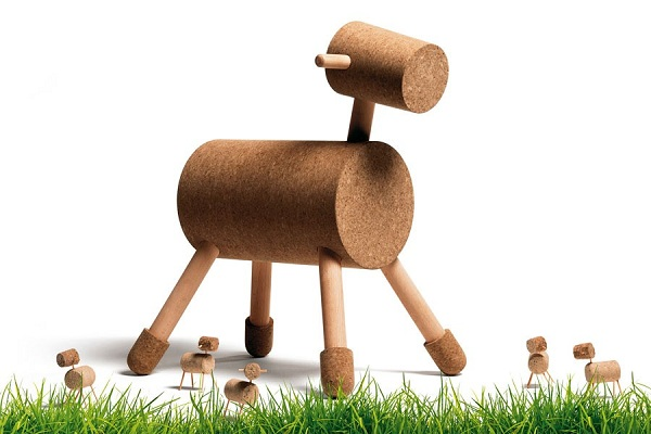 Unique Corkway Beeth Cork Toy Seating With Horse Shaped Design
