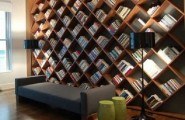 Contemporary Home Library Furniture With Neat Arrangement : Unique Library Book Shelves Design Ideas