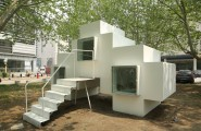 Beautiful Micro House For Small And Functional Residential Place : Unique Shape Of The Hosue With Glass Window