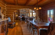 Beautiful Luxury Log Home Plans; Massive Beauty Of Woodwork : Unusual Contemporary Teak Wood Luxury Log Home Plans Design