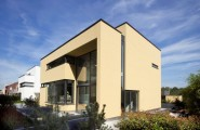 Excellent Modern Home For Comfortable Home And Interior : Unusual Exterior Design Project Of Fabulous House A And J In Creamy Tone
