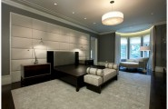 Elegant Padded Wall Panels For New Classy Display : Upholstered Wall