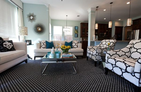 Pillow Scheme Idea To Beautify Your Space Design : Use Accent Pillows To Mix Bold Colors And Chic Patterns