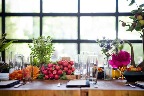Centerpiece Of Dining Table To Create Inspiring Dining Room: Vegetable Centerpiece