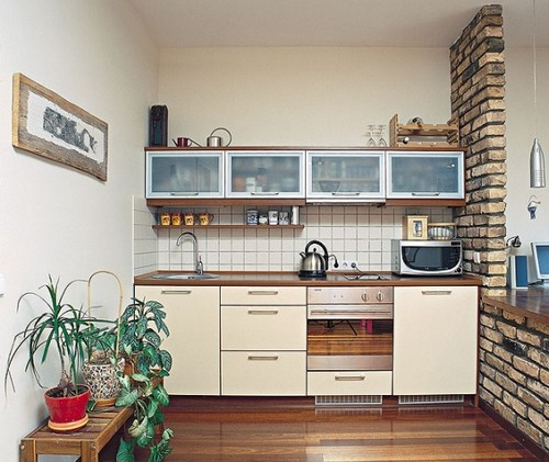 Very Small Kitchen Designs Tricks And Tips : Very Small Kitchen Design Ideas With Wooden Floor
