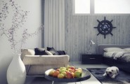 Charming Asian Modern Interiors : Vic Nguyen Loves To Add A Tinge Of Color With Some Natural Green Or Even Fruit