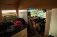 Gorgeous Ideas To Renovate Your Mobile Home : View Inside The Renovated Bus Home Hank Butitta
