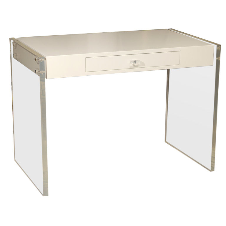 Stylish Lucite Desk For Clear Beauty: Vintage Lucite Desk Design